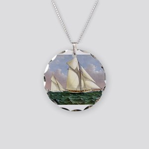 Mayflower saluted by the fleet - 1886 Necklace Cir