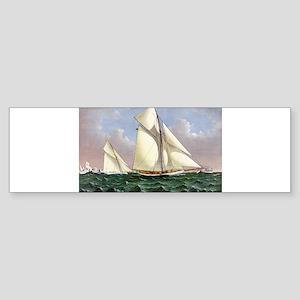 Mayflower saluted by the fleet - 1886 Sticker (Bum