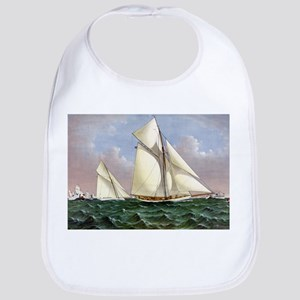 Mayflower saluted by the fleet - 1886 Cotton Baby