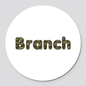 Branch Army Round Car Magnet