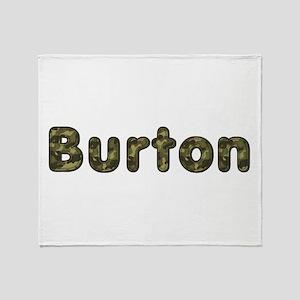 Burton Army Throw Blanket