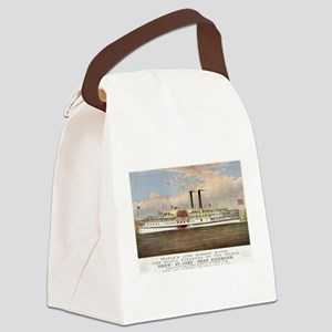 People's line Hudson River - 1877 Canvas Lunch Bag