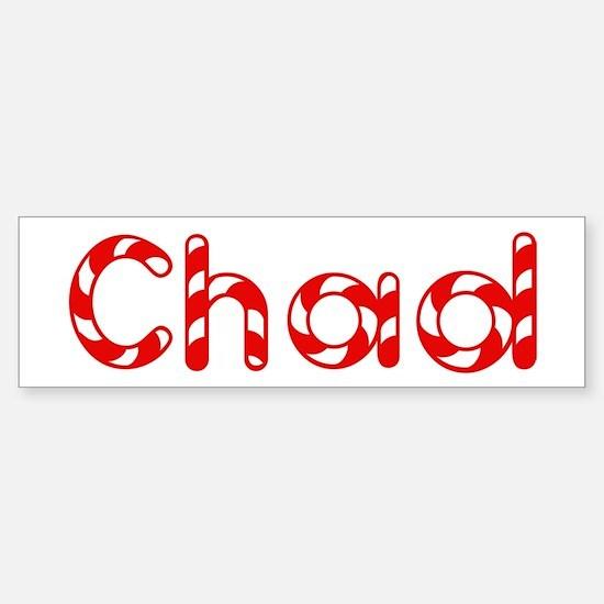 Chad - Candy Cane Bumper Bumper Bumper Sticker