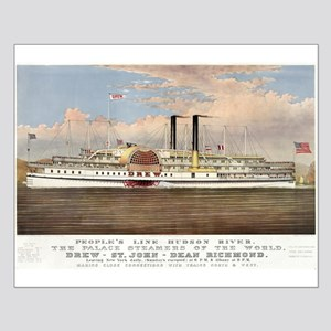 People's line Hudson River - 1877 Small Poster