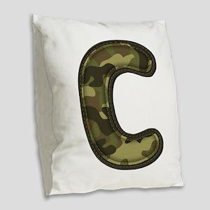 C Army Burlap Throw Pillow