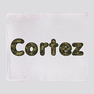 Cortez Army Throw Blanket