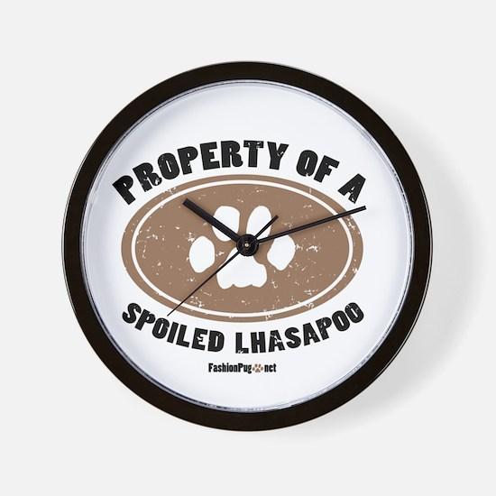 Lhasapoo dog Wall Clock