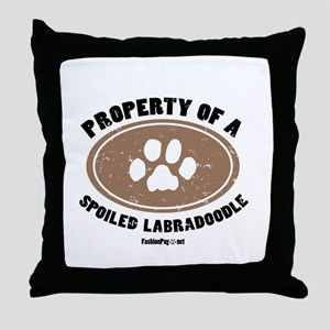 Labradoodle dog Throw Pillow