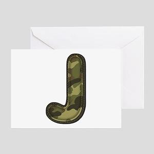 J Army Greeting Card