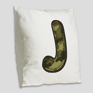 J Army Burlap Throw Pillow
