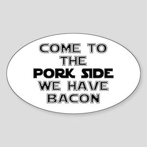 Pork Side Bacon Sticker (Oval)
