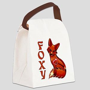 Foxy Canvas Lunch Bag