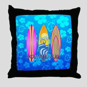 Born To Surf Honu Throw Pillow