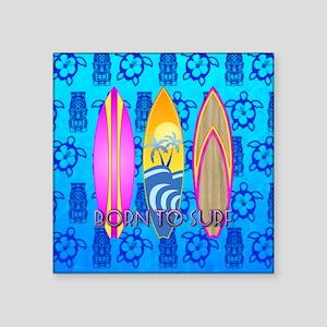 Born To Surf Tiki Sticker