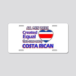 Costa rican Wife Designs Aluminum License Plate