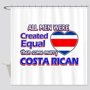 Costa rican Wife Designs Shower Curtain