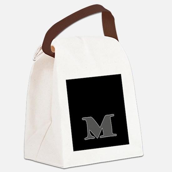 M Canvas Lunch Bag