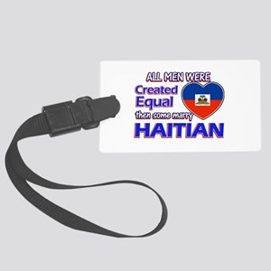 Haitian Wife Designs Large Luggage Tag