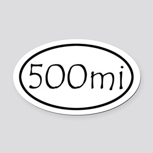 ultracycling - 500mi Oval Car Magnet
