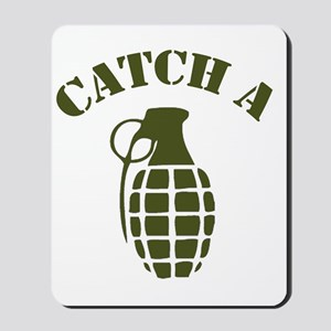 catch a grenade - dark Mousepad