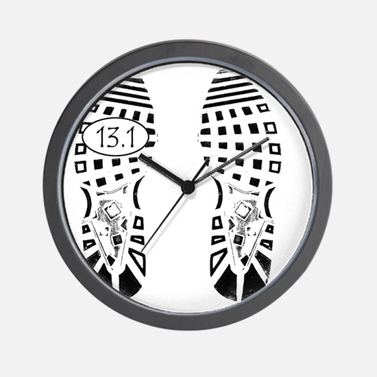 13.1a shoeprint shirt Wall Clock