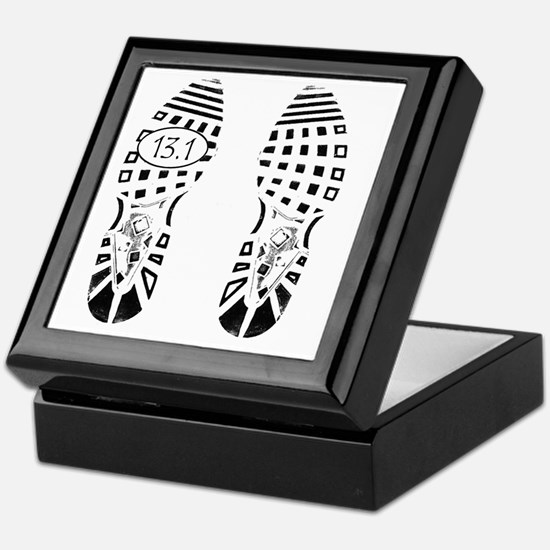 13.1a shoeprint shirt Keepsake Box