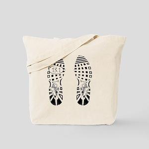 13.1a shoeprint shirt Tote Bag