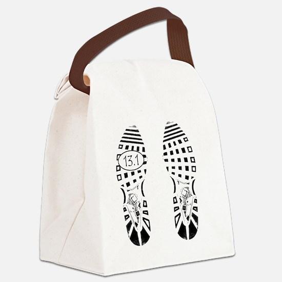 13.1a shoeprint shirt Canvas Lunch Bag