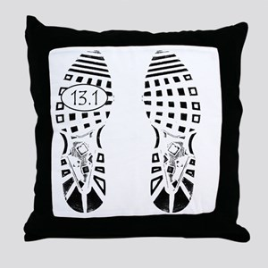 13.1a shoeprint shirt Throw Pillow