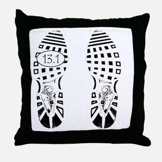 13.1a shoeprint shirt Throw Pillow