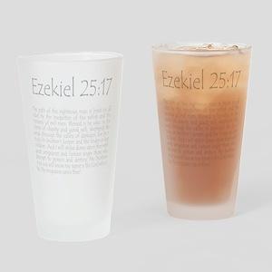 ezekiel2517 quote - grey Drinking Glass