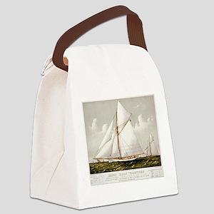Sloop yacht Volunteer - 1887 Canvas Lunch Bag