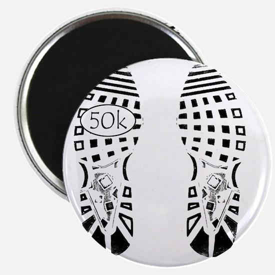 halfmarathon shoeprint shirt Magnet