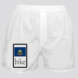 sticker idaho bike Boxer Shorts