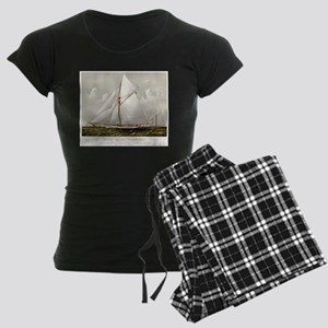 Sloop yacht Volunteer - 1887 Women's Dark Pajamas