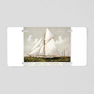 Sloop yacht Volunteer - 1887 Aluminum License Plat