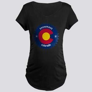 snowmass Maternity Dark T-Shirt