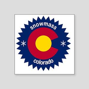 "snowmass Square Sticker 3"" x 3"""