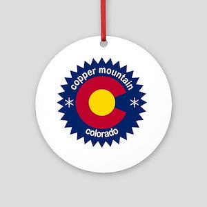 copper mountain Round Ornament