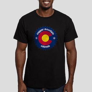 copper mountain Men's Fitted T-Shirt (dark)