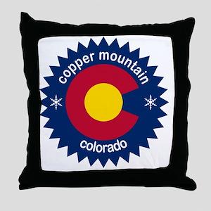 copper mountain Throw Pillow