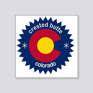 "crested butte Square Sticker 3"" x 3"""