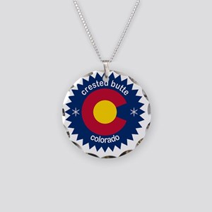 crested butte Necklace Circle Charm