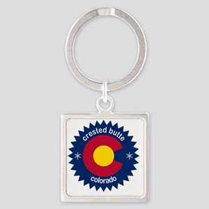 crested butte Square Keychain