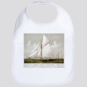 Sloop yacht Volunteer - 1887 Cotton Baby Bib