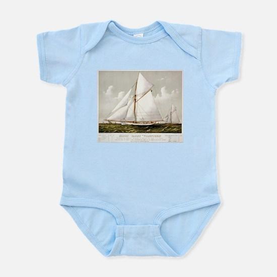 Sloop yacht Volunteer - 1887 Infant Bodysuit