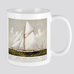Sloop yacht Volunteer - 1887 11 oz Ceramic Mug