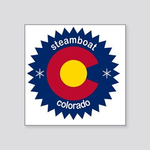 "steamboat Square Sticker 3"" x 3"""
