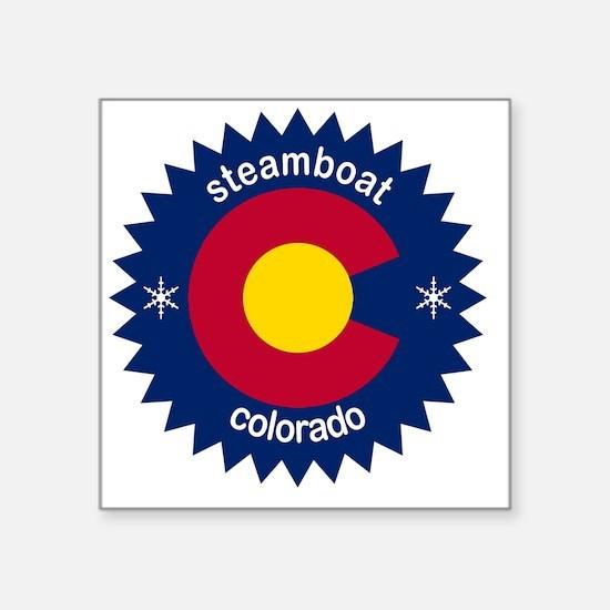 """steamboat Square Sticker 3"""" x 3"""""""