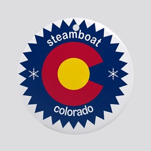 steamboat Round Ornament